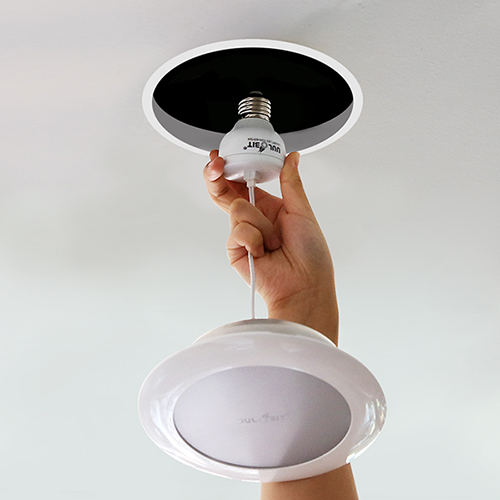 1분만에 설치가 쉬운 울빛 LED 5인치/6인치 다운라이트 (삼파장, LED벌브 대체용)
