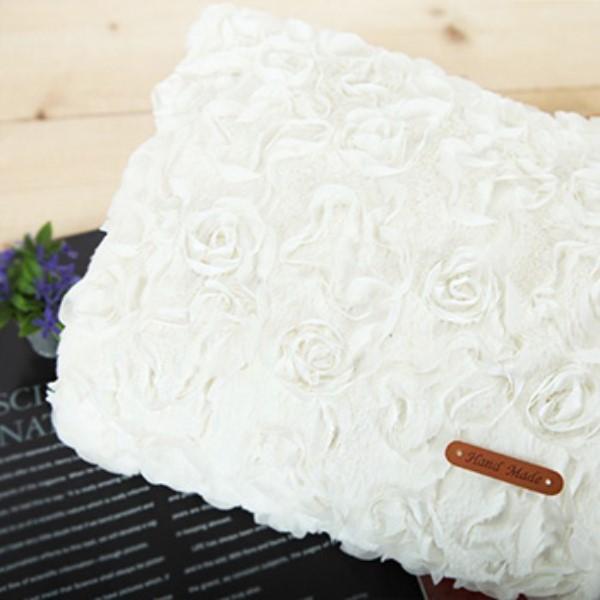 대폭 입체벨보아]꽃잎에앉은로즈-백아이보리 69611