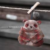 DIY패키지]팬더곰키홀더(와인) 29157