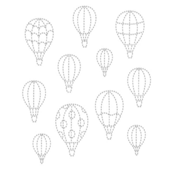 자수패브릭]열기구(61-955) 67499