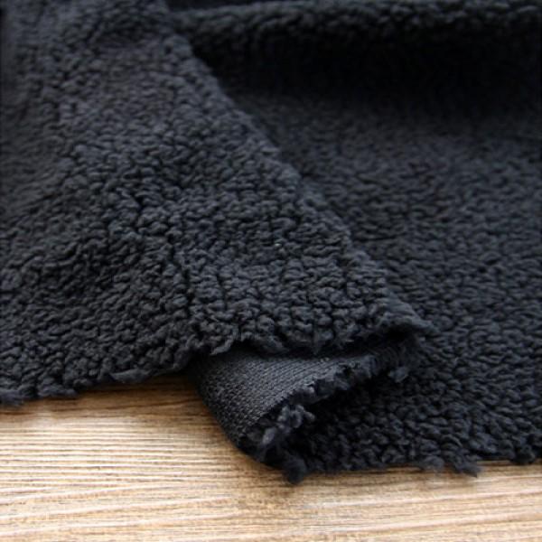 대폭 단면 양면양털 블랙 16785