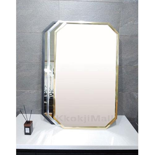 국내 제작 팔각 골드거울 600*1000 실버거울  블랙거울  알루미늄거울 벽걸이 거울 현관 거울