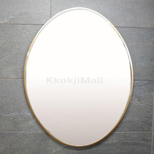 타원거울 골드거울 로즈골드거울 600*800 알루미늄 거울 벽걸이 거울 욕실 거울 인테리어 거울