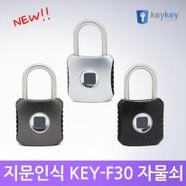 [키키 KEY-F30 /지문인식 자물쇠]지문인식 사물함키/도어락/열쇠키/캐비넷키/생활방수/와이어자물쇠