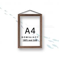 [A4-원목액자] 100%리얼오크 원목액자/포스터액자/투명액자-A4사이즈/고미앤제시