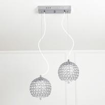 LED 미니반공 크리스탈 2등 팬던트