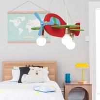 칼라비행기 3등 팬던트 (어린이방등)