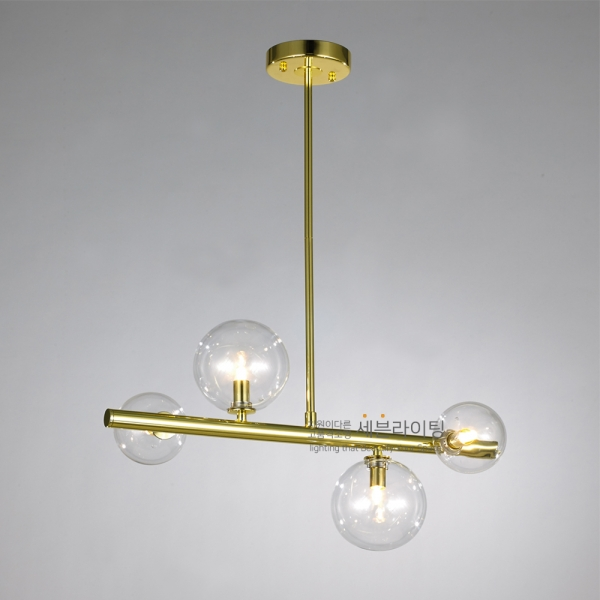 LED 디아망 4등 직부 골드 포인트 식탁조명