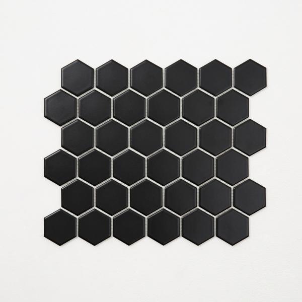 육각 모자이크 타일 (HB-03 블랙) 1BOX 10장
