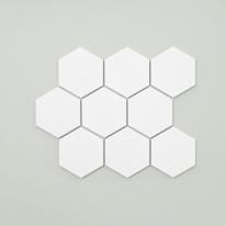 육각 모자이크 타일 (HO-01 화이트) 1BOX 12장