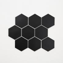 육각 모자이크 타일 (HO-03 블랙) 1BOX 12장