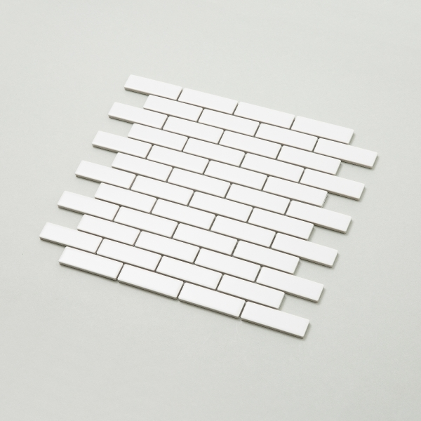 직사각 미니블럭 모자이크 타일 (GUB-01 화이트) 1BOX 12장
