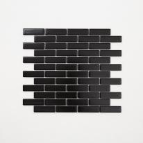 직사각 미니블럭 모자이크 타일 (GUB-03 블랙) 1BOX 12장