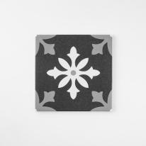 스노우플레이크 블랙 패턴타일 200x200 (REP-04) 1BOX 25장