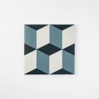 큐브 블루 패턴타일 200x200 (REP-14) 1BOX 25장