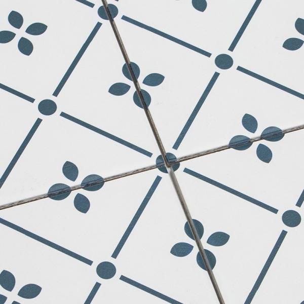 체리블라썸 네이비 패턴타일 200x200 (REP-02) 1BOX 25장