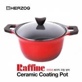 헤르조그 라피네 냄비 양수 곰솥 24cm 세라믹코팅