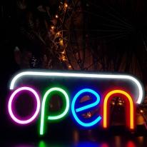 업소용 인테리어 네온형 오픈 OPEN LED조명