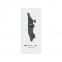 인테리어 월아트 익시 - New York (Manhattan) city map