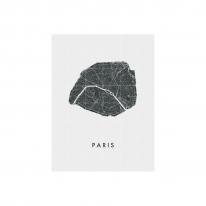 인테리어 월아트 익시 - Paris city map
