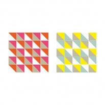 인테리어 월아트 익시 - Loco Yellow & Pink