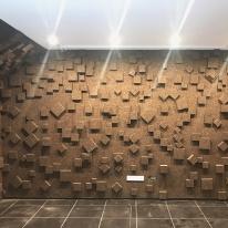 참나무 코르크 숯으로 만든 단열 흡음 디자인아트월