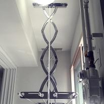 설치비현장결제 스테인레스 베란다 천장 빨래건조대 3단
