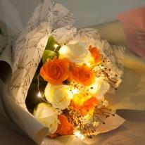 플라워비누장미꽃다발 53cmP (전구포함)