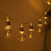LED 전구캡 백열전구 50Ø(mm) (2개) 투명 [트리]