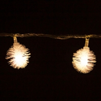 LED 전구캡 솜털 (10개입) [트리]