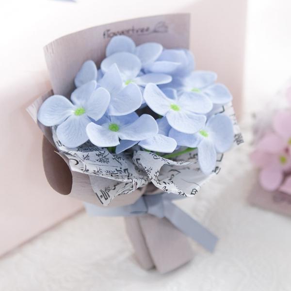 미니비누수국꽃다발 14cm(조화)