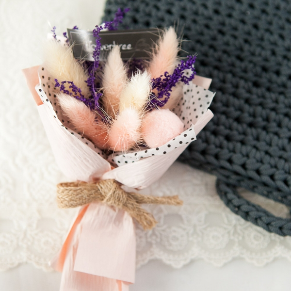미니라그라스꽃다발 15cm(조화)