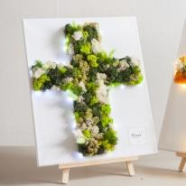 스칸디아십자가액자set(전구+이젤) 50cmP