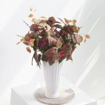 버건디콜레우스부쉬o 34cm 조화 꽃 FAIAFT