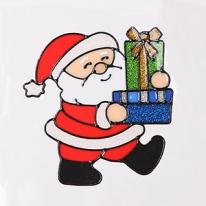 둘선물산타 글라스스티커 중 20cm 크리스마스 TRMBLS