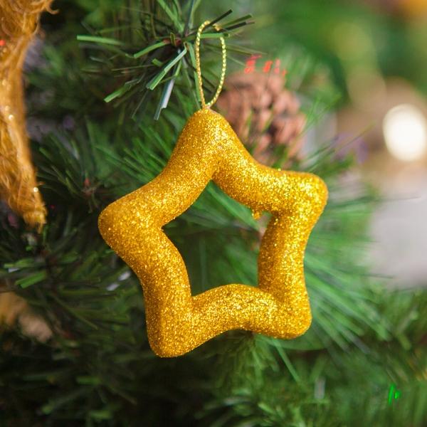 오각별 8cm(2개입) 트리 크리스마스 장식 TROMCG