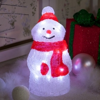 LED 아크릴 눈사람 30cm 트리 전구 소품 장식 TRDELB
