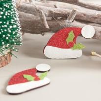 펄모자 8cm (2개입) 크리스마스 장식 소품 TROMCG