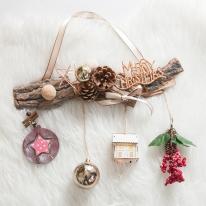 라인별우드스킨갈란드 36cmP 크리스마스 장식 TRWGHM