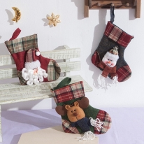 체크양말 18cm 트리 크리스마스 장식 소품 TROMCG