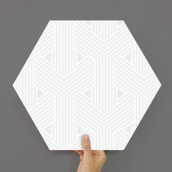 [유니크] 육각조각 시트&벽지(Y 화이트) / MP60-1651