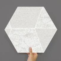 [유니크] 육각조각 시트&벽지(스톤 화이트) / MP60-1681