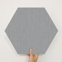 [유니크] 육각조각 시트&벽지(패브릭 다크) / MP60-1633