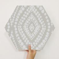 [유니크] 육각조각 시트&벽지(다마스크 그레이) / MP60-1692