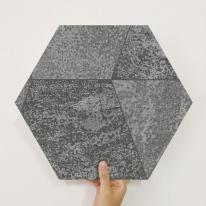 [유니크] 육각조각 시트&벽지(스톤 블랙) / MP60-1682