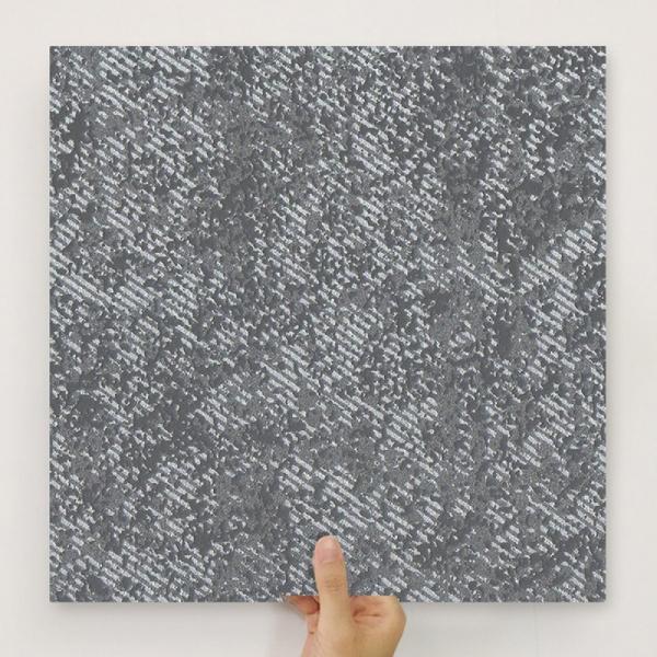 [유니크] 사각조각 시트&벽지(페인팅 블랙) / MP40-16104