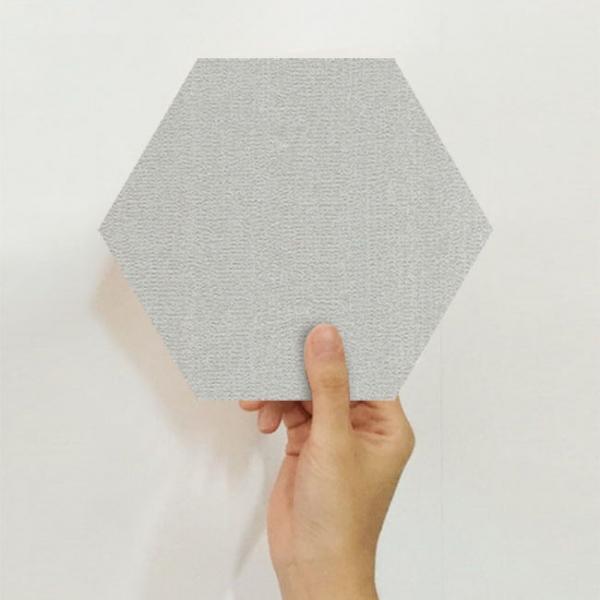 [유니크] 육각 데코스티커(스노우 라이트그레이) / PS60-1642