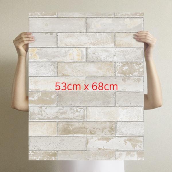 [무지막지] 더큰 THE조각벽지(1롤7조각-가로1M벽 시공가능)/벽돌그레이/MG07-T009