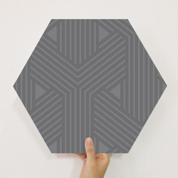 [유니크] 육각조각 시트&벽지(Y 블랙) / MP60-1653