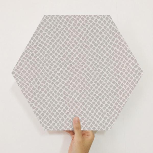 [유니크] 육각조각 시트&벽지(뱀피 베이지) / MP60-1673